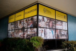 College of Pharmacy window decal treatment.