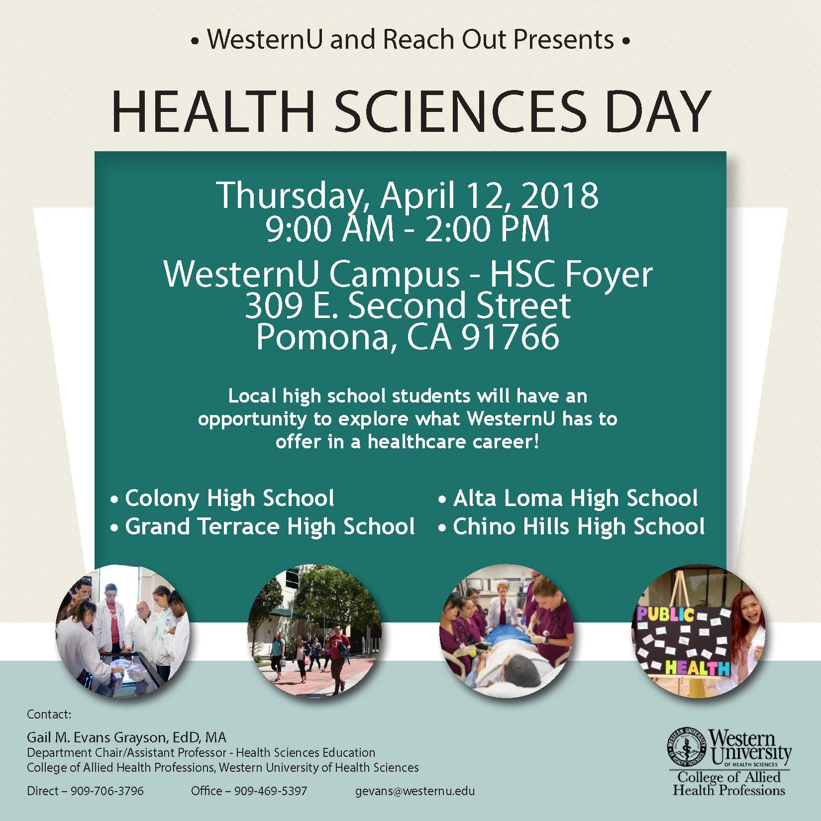 Health Sciences Day flier