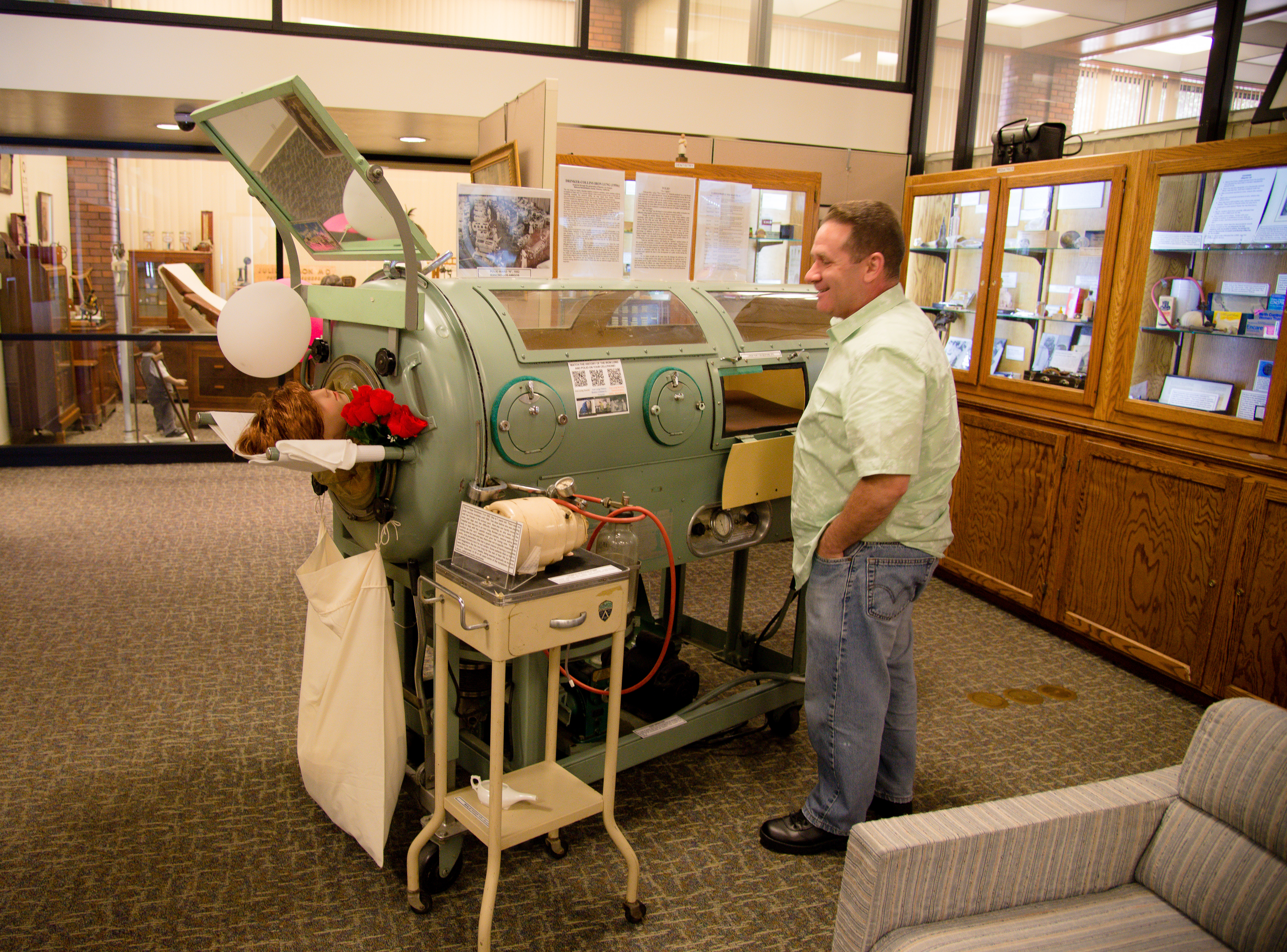 Iron Lung on Display at Southern California Medical Museum
