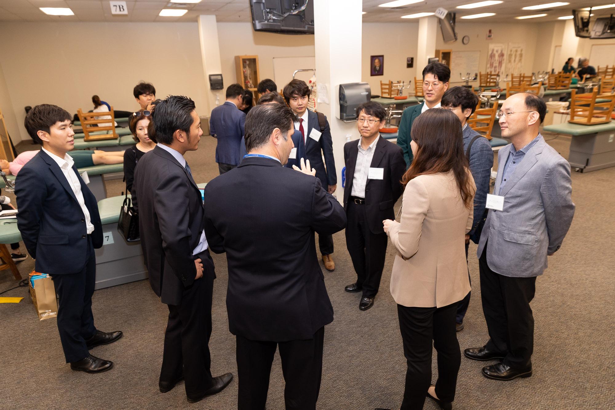 Korean Delegation Visits WesternU for Exploration of Osteopathic Medicine