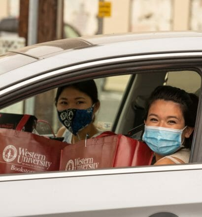 WesternU Students Begin Picking Up PPE And Medical Equipment For The New School Year
