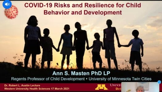 WesternU's Austin Lecture examines children's resilience amid pandemic